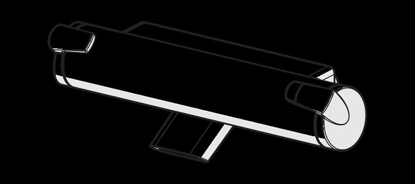Bateria wannowo-prysznicowa Oras Optima rysunek techniczny