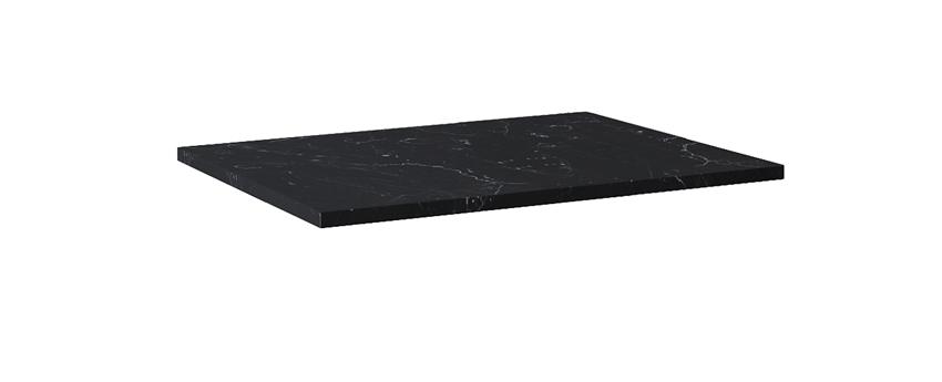 Blat naszafkowy pełny 70 cm Elita ElitStone MARMUR MARQUINA BLACK MATT