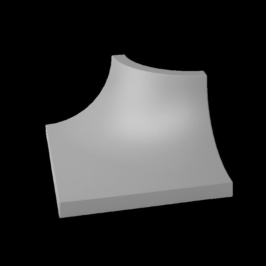 Płytka dekoracyjna 3x4 cm Paradyż Gamma Szara Kształtka C Mat