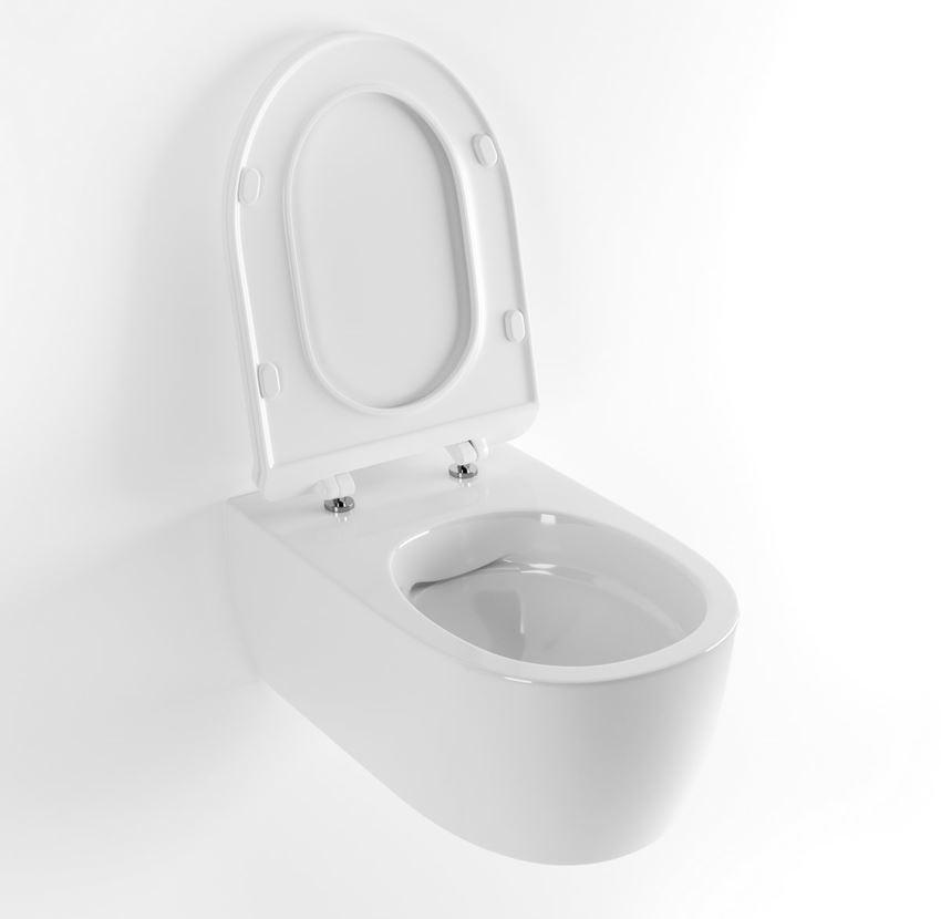 Bezrantowa miska WC wisząca 48,5x36,5 cm Excellent Doto