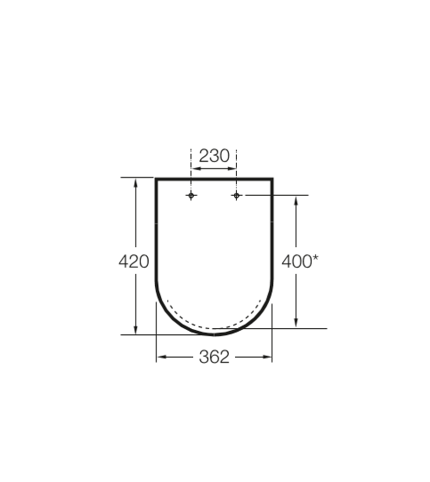 Deska WC Compacto wolnoopadająca SUPRALIT ® Roca Meridian rysunek