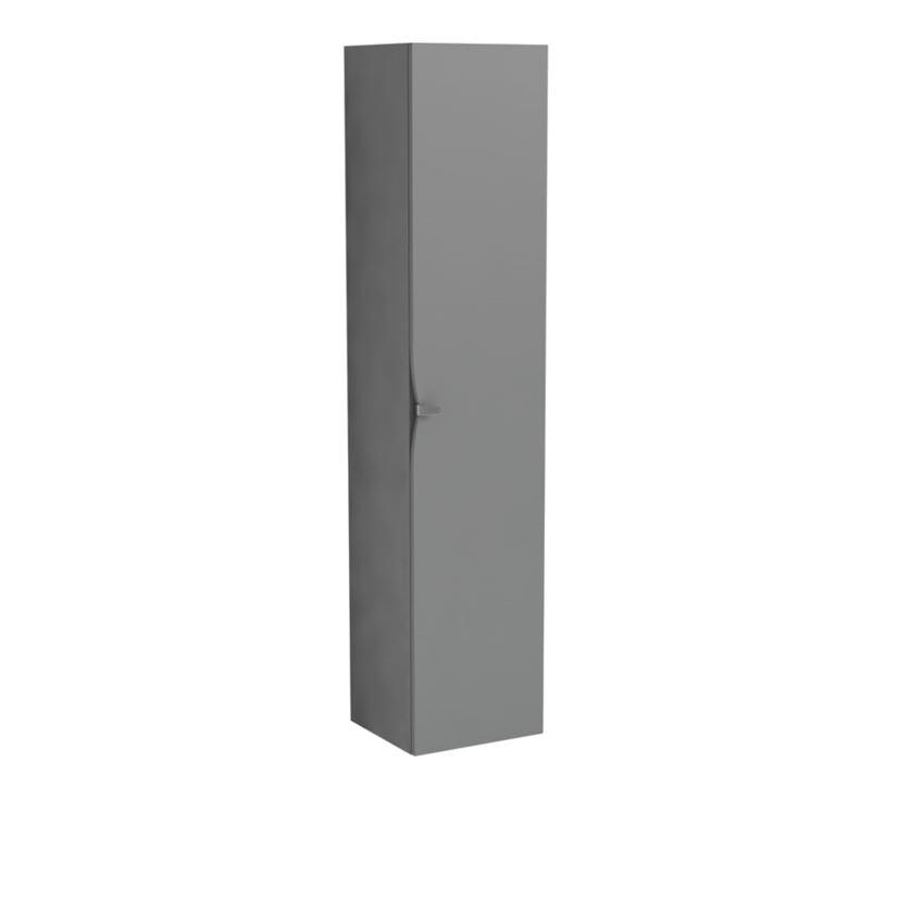 Szafka wysoka boczna szara 32x35x160 cm Oristo Siena