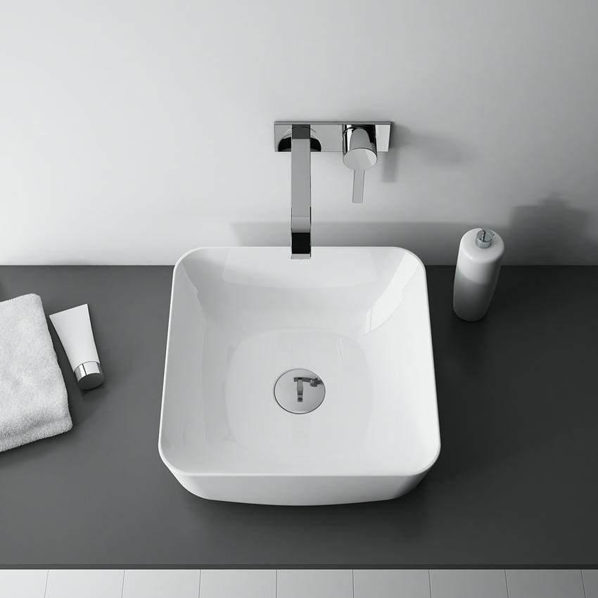 Umywalka stawiana na blacie 39x39 cm Elita Turda