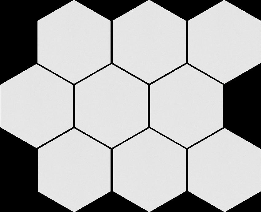 Mozaika uniwersalna 27,53x33,4 cm Cerrad Mozaika heksagon Cambia white lappato