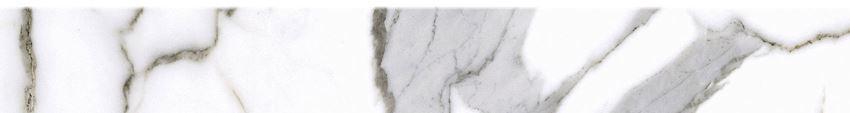 Płytka cokołowa 8x60 cm Cerrad Calacatta white Satyna cokół