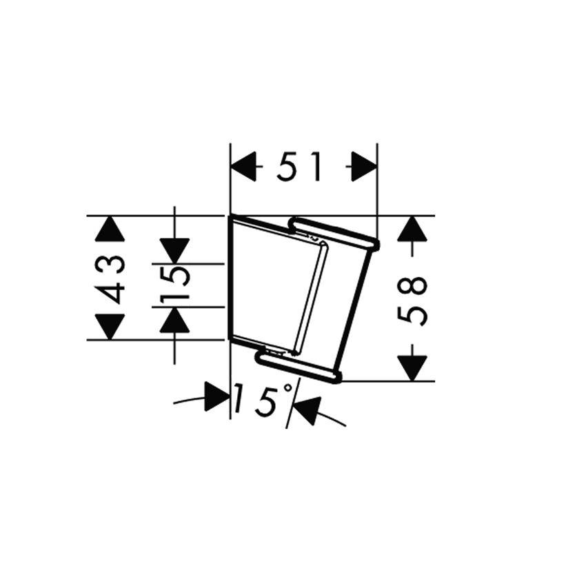 Uchwyt prysznicowy Porter Classic Hansgrohe rysunek