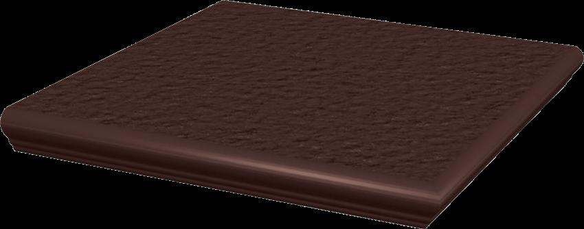 Płytka stopnicowa 33x33 cm Paradyż Natural Brown Kapinos Stopnica Narożna Duro