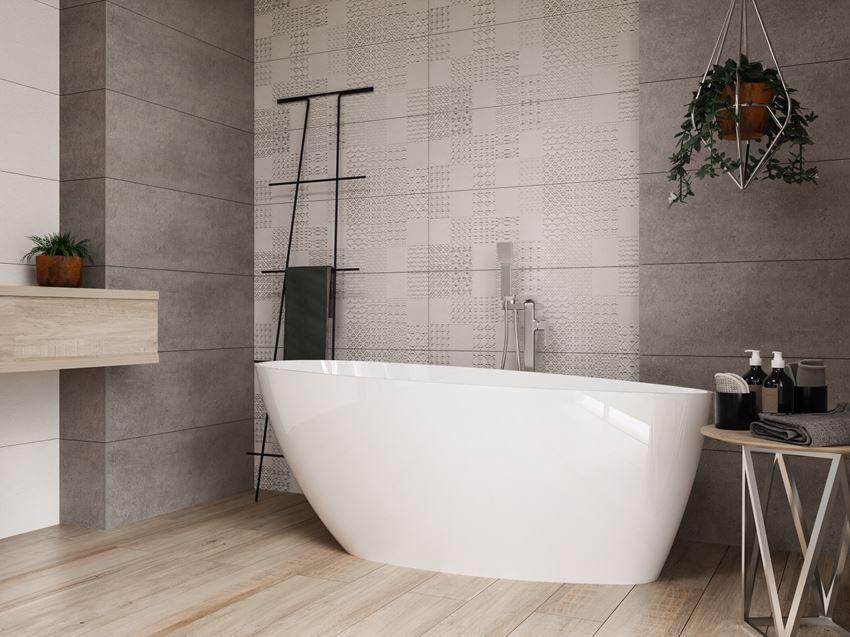Nowoczesna łazienka z wanną IÖ Tromso