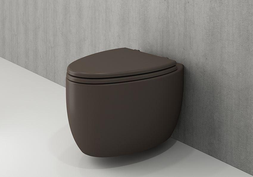 Miska WC wisząca bez deski Matt Brown Bocchi Etna