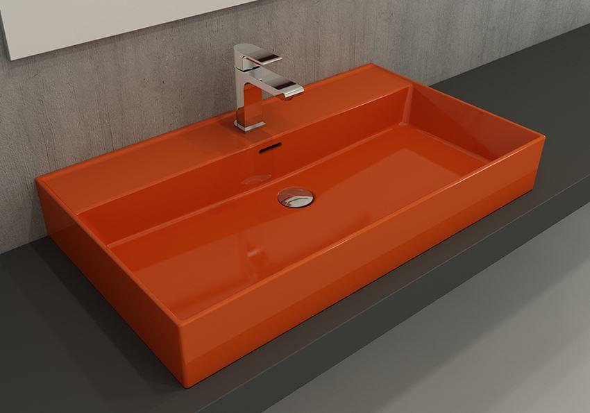 Umywalka meblowa/nablatowa/wisząca 80 cm Glossy Orange Bocchi Milano