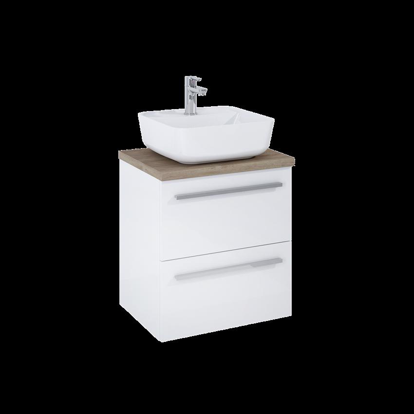 Szafka z umywalką i blatem 50 cm Elita Kwadro Plus White