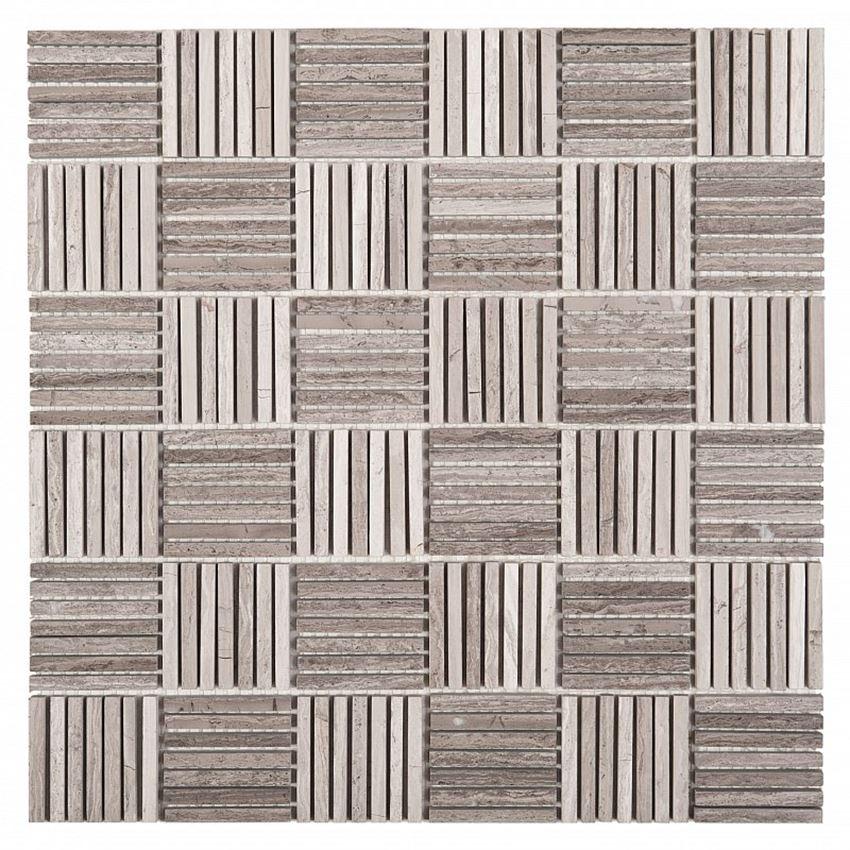 Mozaika Woodstone Grey Tatami 48