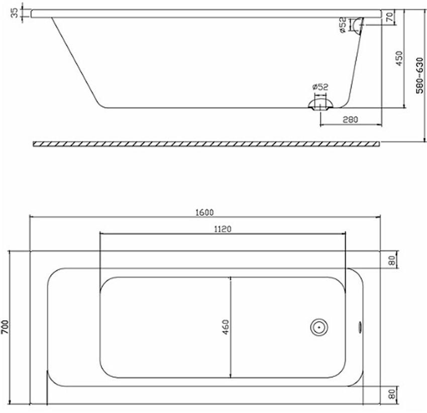 Rysunek techniczny Koło Modo XWP1160101