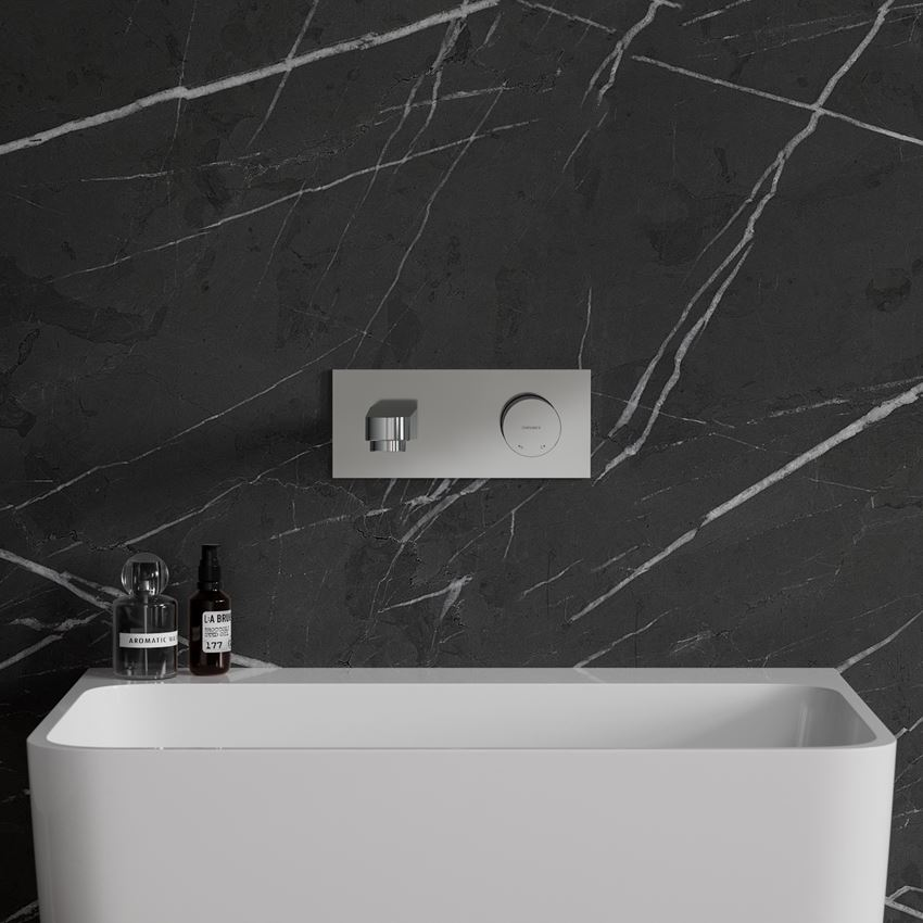 Bateria umywalkowa podtynkowa chrom Omnires Contour