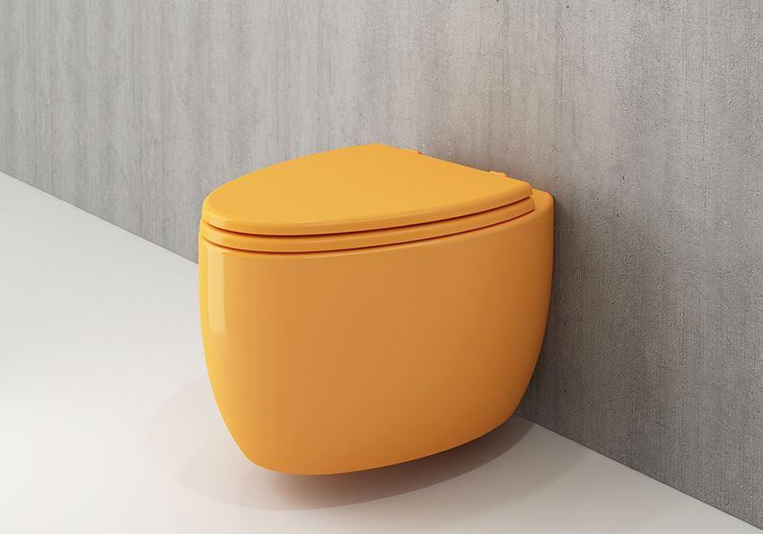 Miska WC wisząca bez deski Glossy Tangerine Bocchi Etna