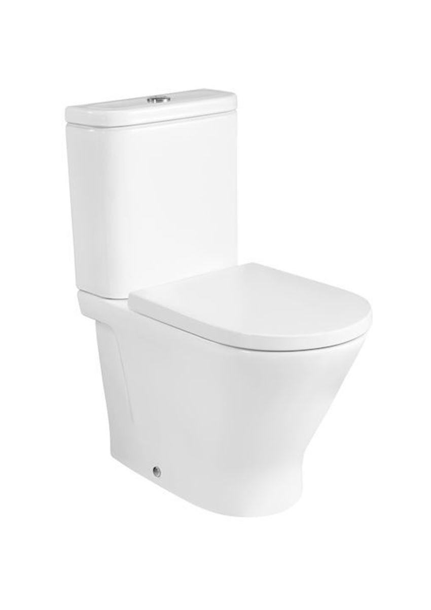 Miska WC Round o/podwójny do kompaktu Rimless 37x60x79 cm Roca Gap