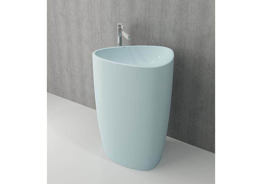 Umywalka wolnostojąca monoblok Matte Ice Blue Bocchi Etna