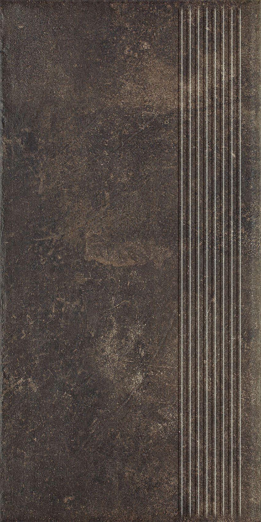 Płytka stopnicowa 30x60 cm Paradyż Scandiano Brown Stopnica Prosta