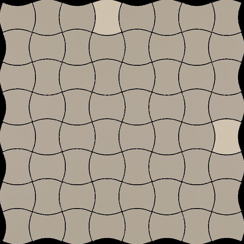 Mozaika 30,9x30,9 cm Paradyż Modernizm Grys Mozaika Prasowana