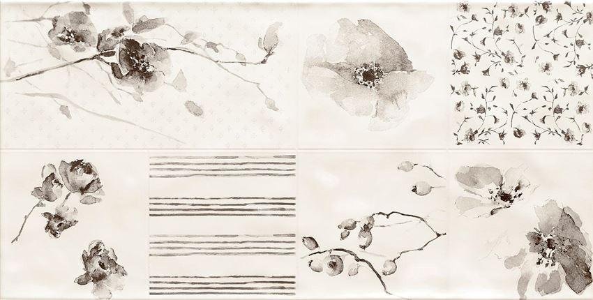 Dekoracja ścienna 60,8x30,8 cm Tubądzin Amalia 1 STR