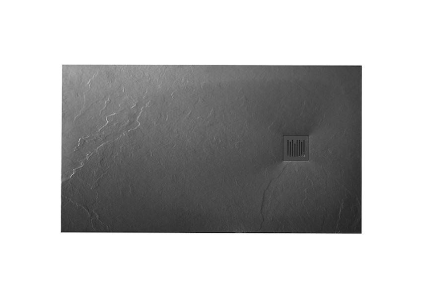 Brodzik kompozytowy szary łupek 160x90x3,7 cm Roca Ignis