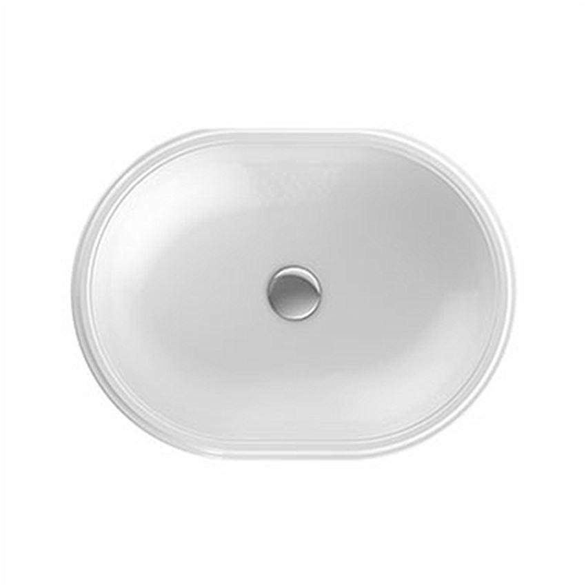 Umywalka podblatowa eliptyczna 55x40 cm bez otworu bez przelewu Koło VariForm