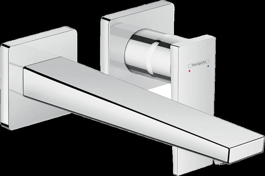 Jednouchwytowa bateria umywalkowa podtynkowa wylewka 22,5 cm element zewnętrzny Hansgrohe Metropol