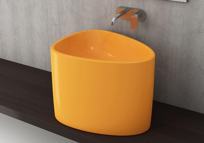Umywalka nablatowa Glossy Tangerine Bocchi Etna
