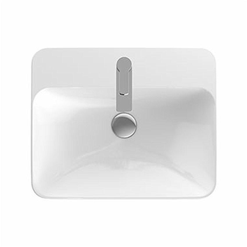 Umywalka prostokątna wpuszczana w blat 55x45 cm z otworem bez przelewu Koło VariForm