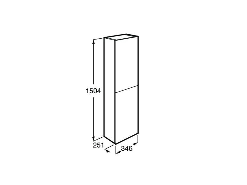 Kolumna wysoka 150 cm Roca Gap rysunek