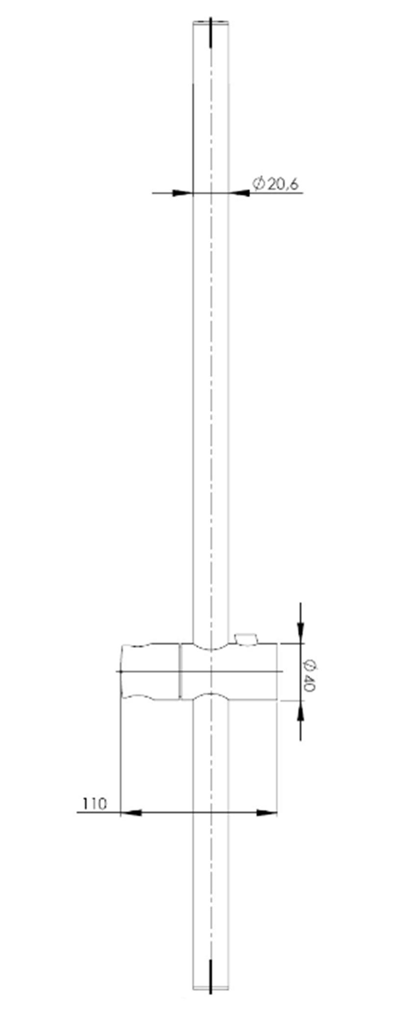 Drążek prysznicowy 90cm Roca Stella