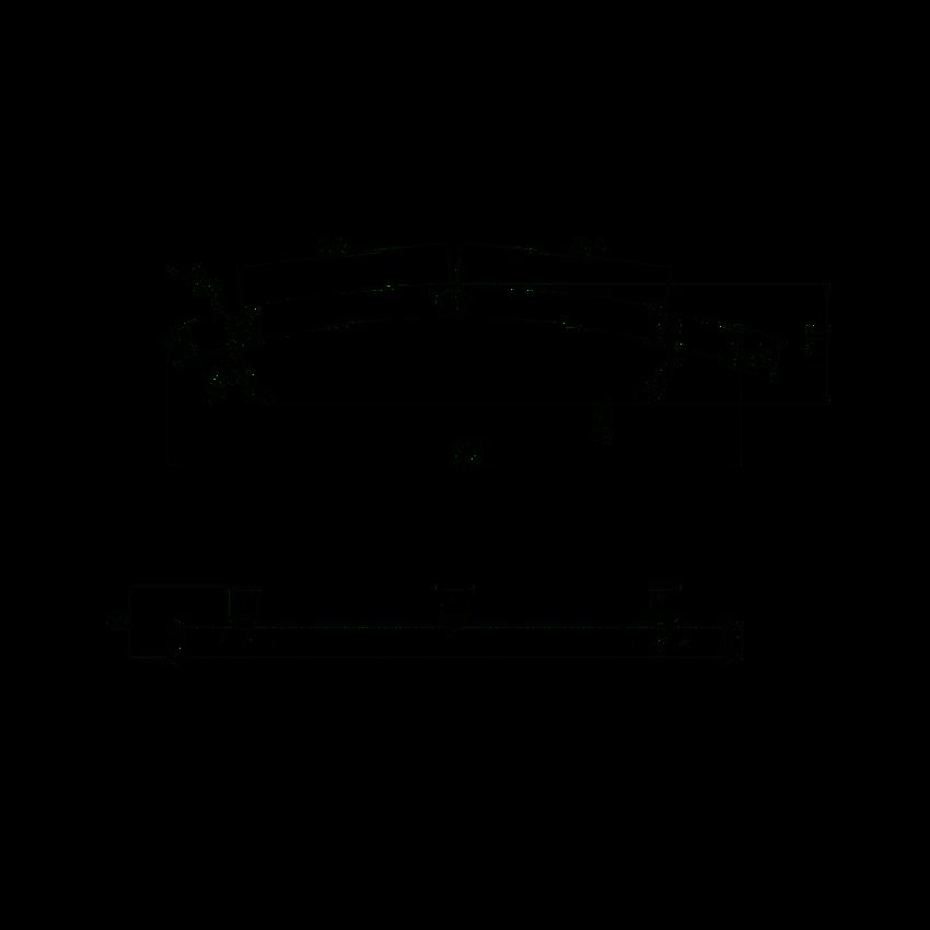 Uchwyt stalowy przyścienny z miejscem na ręcznik Deante Vital rysunek techniczny
