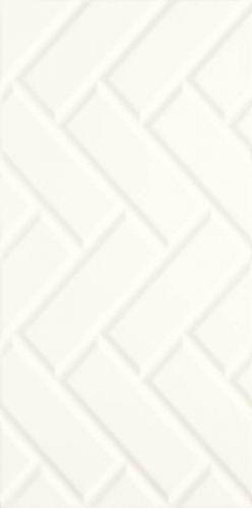 Płytka ścienna 29,5x59,5 cm Paradyż Moonlight Bianco Ściana A Struktura Rektyfikacja