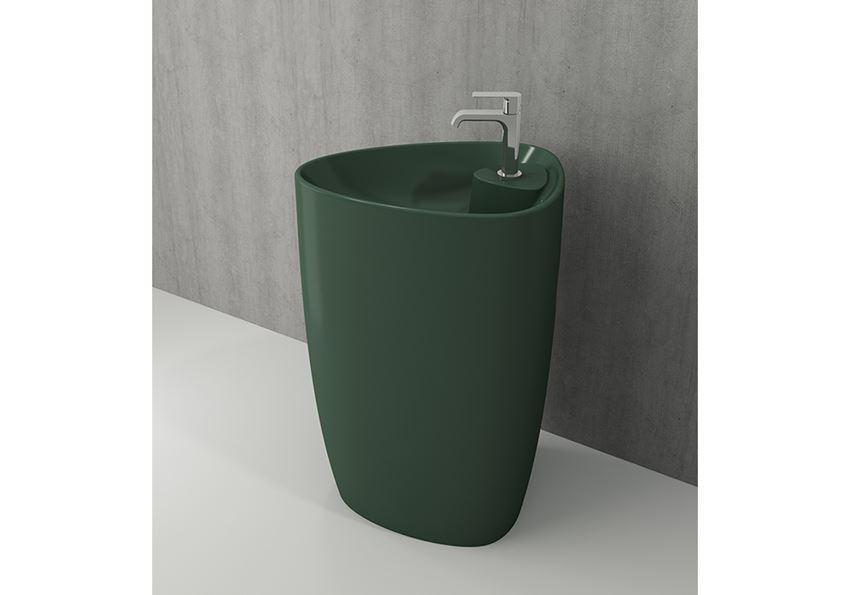 Umywalka monoblok Matte Green Bocchi Etna