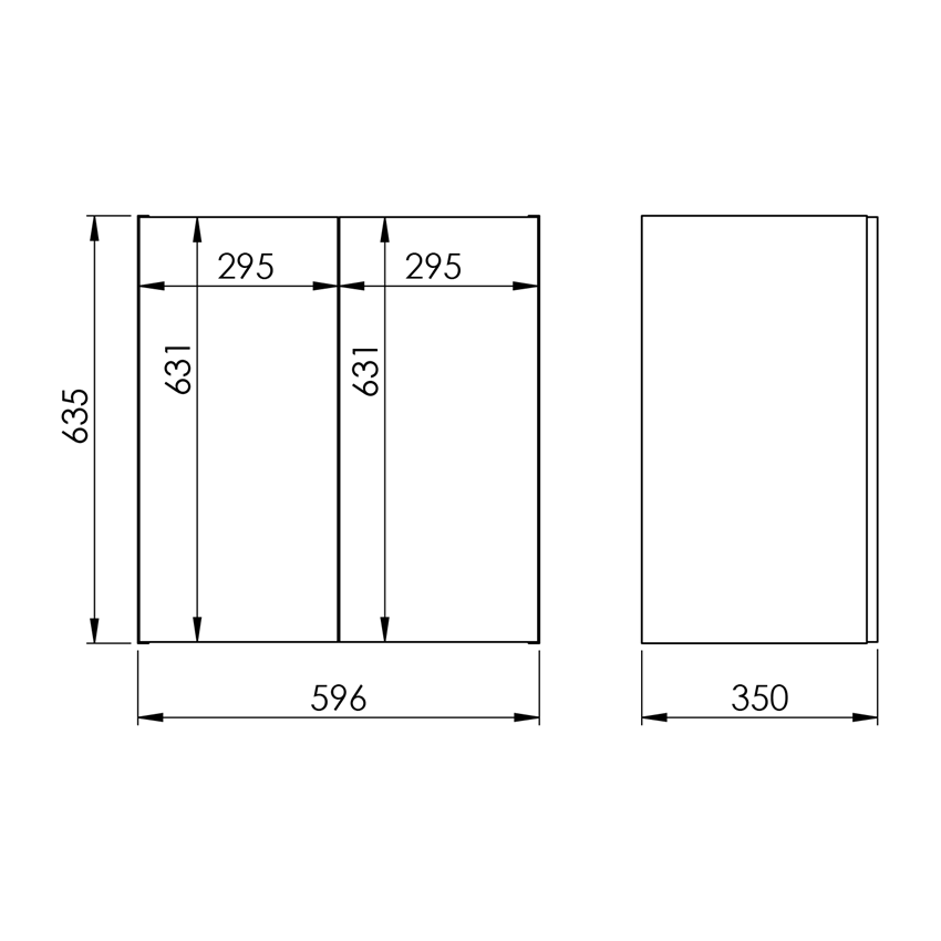 Szafka podumywalkowa 60 cm Elita Kido 2D rysunek
