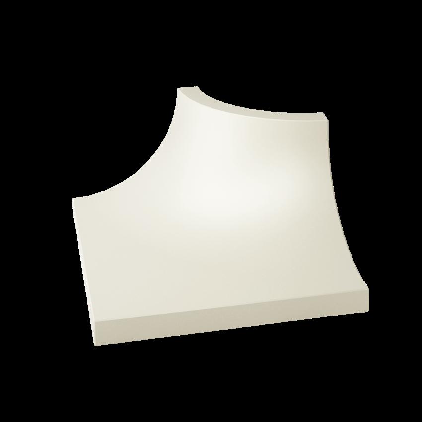 Płytka dekoracyjna 3x4 cm Paradyż Gamma Bianco Kształtka C Mat