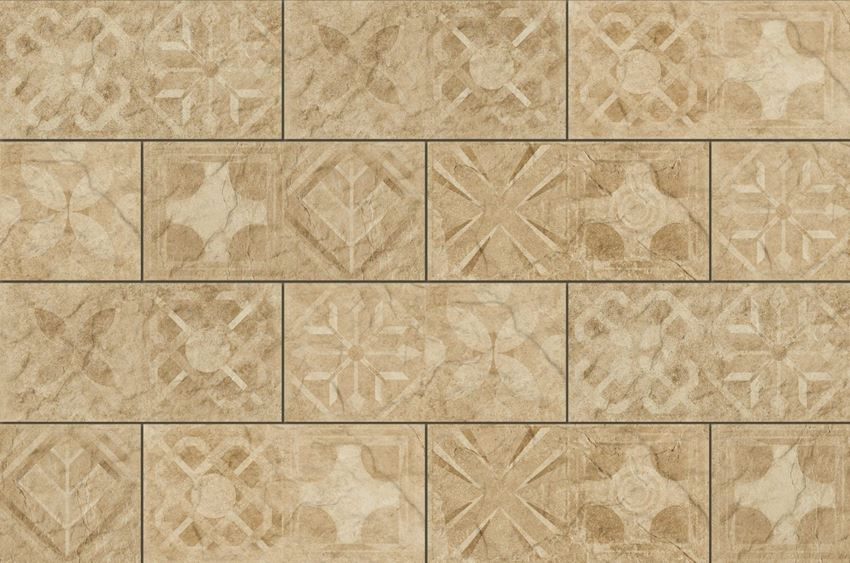 Płytka dekoracyjna 14,8x30 cm Cerrad Torstone beige decor