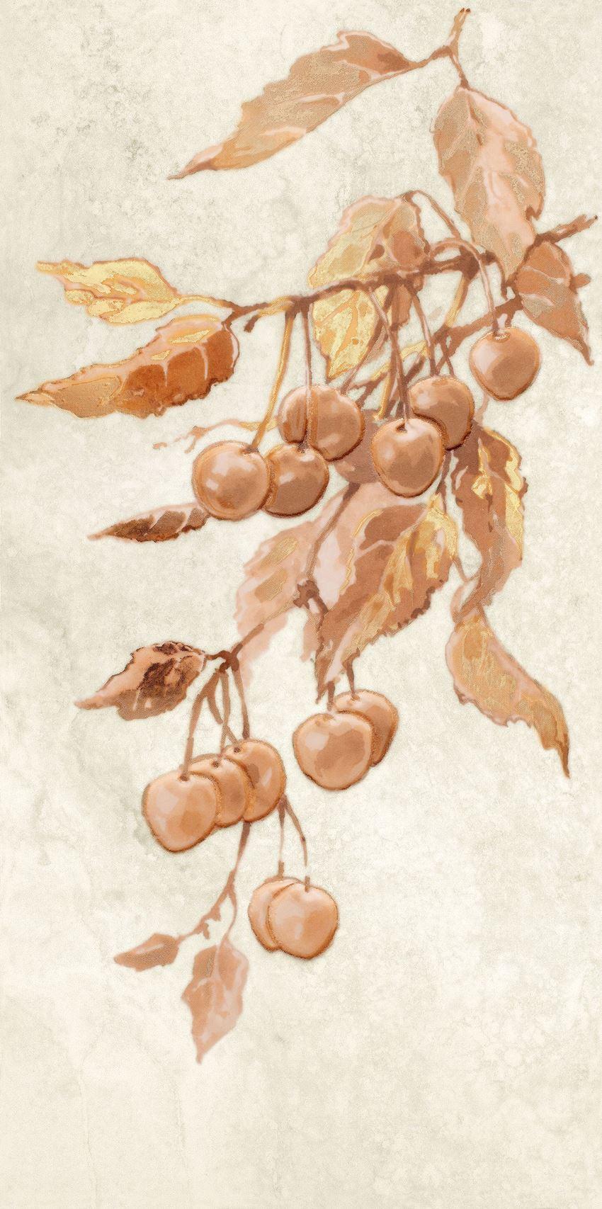 Dekor ścienny 44,8x22,3 cm Domino Enna Fruits cherry