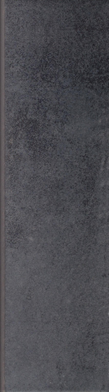 Płytka cokołowa 8,1x30 cm Paradyż Bazalto Grafit Cokół