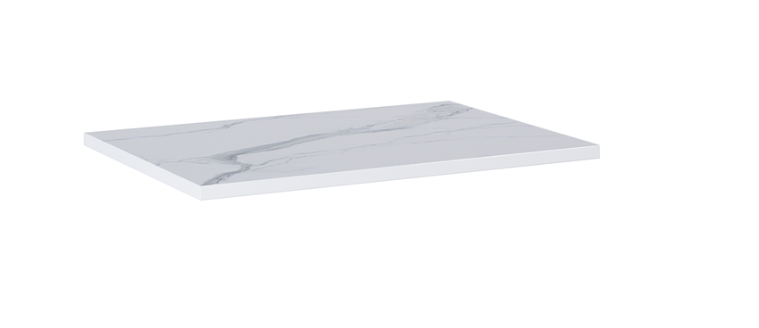 Blat naszafkowy pełny 60 cm Elita ElitStone MARMUR CALACATTA WHITE