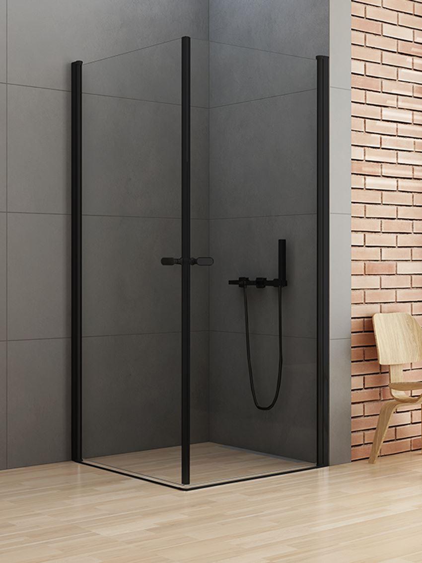 Kabina prysznicowa z podwójnymi drzwiami New Trendy New Soleo Black