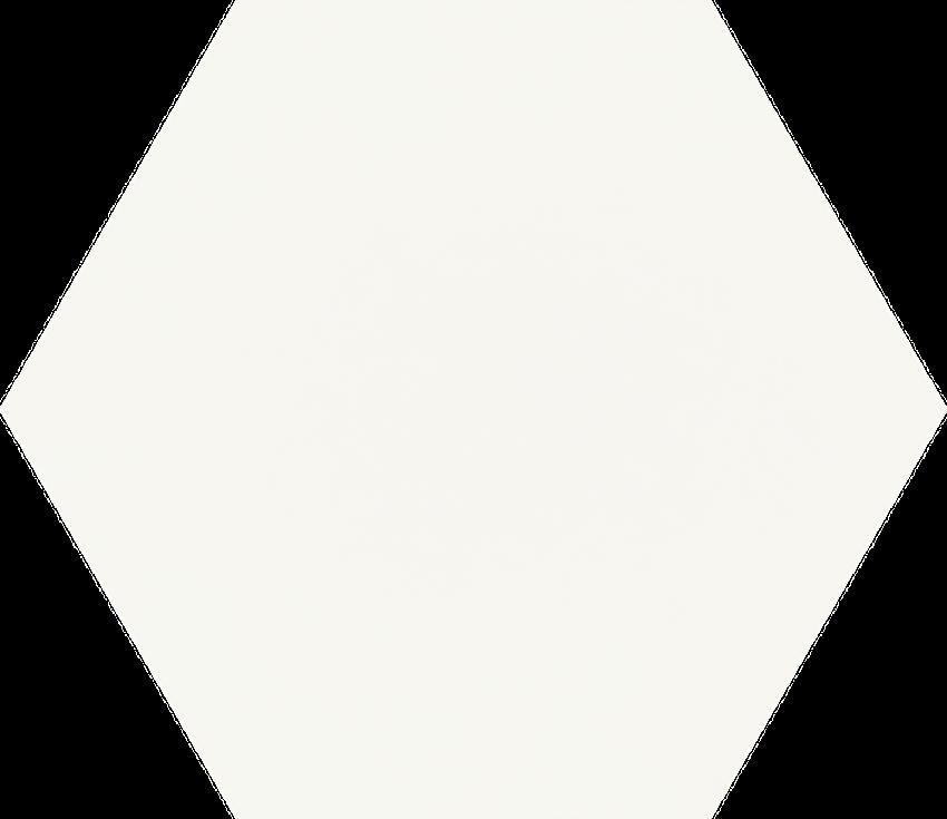 Płytka ścienno-podłogowa 19,8x17,1 cm Paradyż Shiny Lines Bianco Heksagon Gres Szkl. Mat