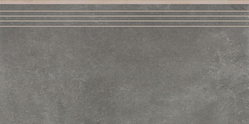 Płytka stopnicowa 29,7x59,7 cm Cerrad Tassero grafit