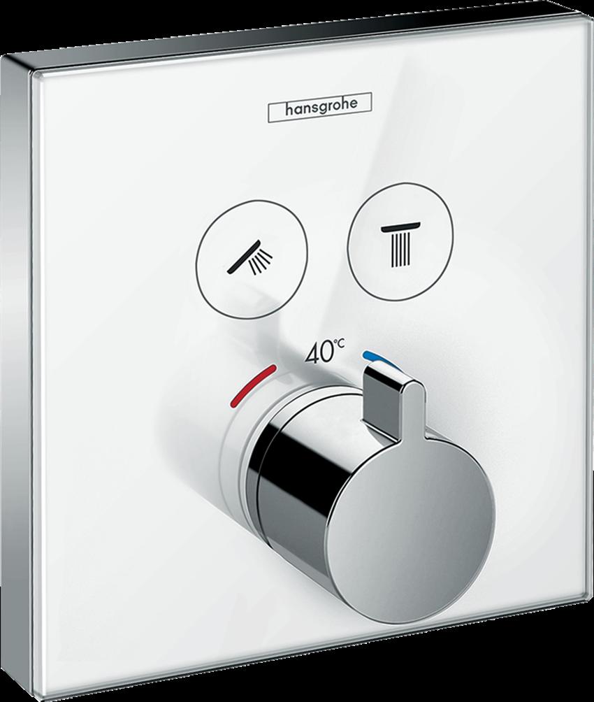 Bateria termostatyczna do 2 odbiorników Hansgrohe ShowerSelect Glass