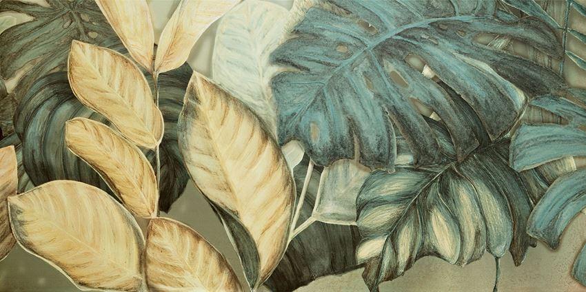 Obraz gresowy 59,8x119,8 cm Domino Alabaster Shine Element 1 leaves A
