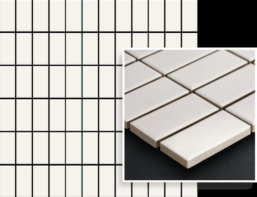 Mozaika 29,8x29,8 cm Paradyż Albir Bianco Mozaika Prasowana K.2,3X4,8