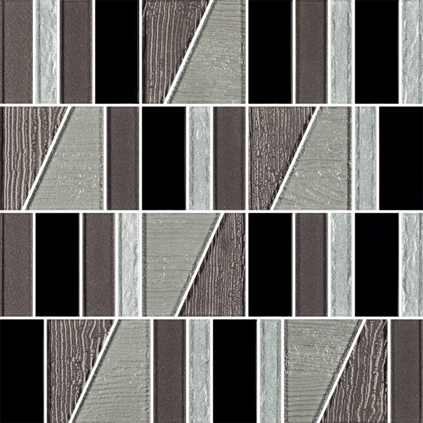 Mozaika szklana 29,8x29,8 cm Paradyż Uniwersalna Mozaika Szklana Nero Paradyż Tiffany Mix