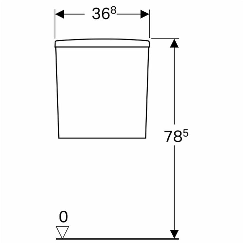 Spłuczka prostokątna z armaturą 6/3l Koło Nova Pro Premium rysunek