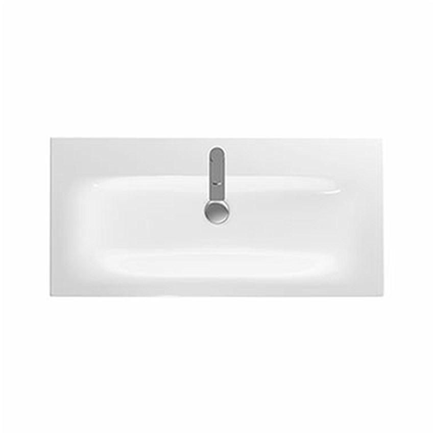 Umywalka meblowa 100 cm z niskim rantem z otworem i przelewem Koło Nova Pro Premium