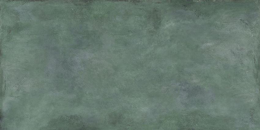 Płytka ścienno-podłogowa 119,8x239,8 cm Tubądzin Patina Plate green MAT